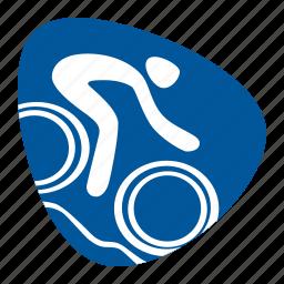 bike, biking, cycling, games, mountain, olympic, sport icon