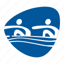 boat, games, olympic, rowing, sport, team, water icon