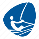 boat, games, olympic, sailing, sea, sport icon