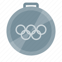 games, medal, olympic, second place, silver, sport icon