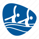 games, olympic, pool, sport, swimming, synchronized, team icon