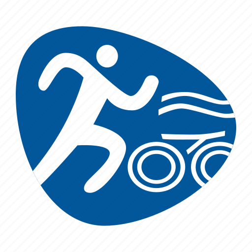 cycling, games, olympic, running, sport, swimming, triathlon icon