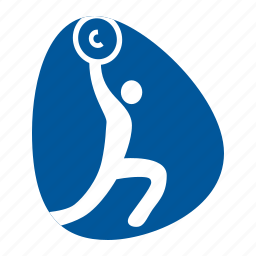 barbell, games, olympic, sport, weight, weightlifting icon