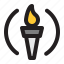 olympics, sport, competition, torch, fire, flame, holding