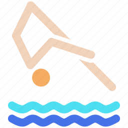 aquatics, diving, games, olympics, sports, swimming, water icon