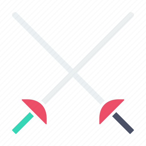 combat, cross, fencing, games, olympics, sports, swords icon