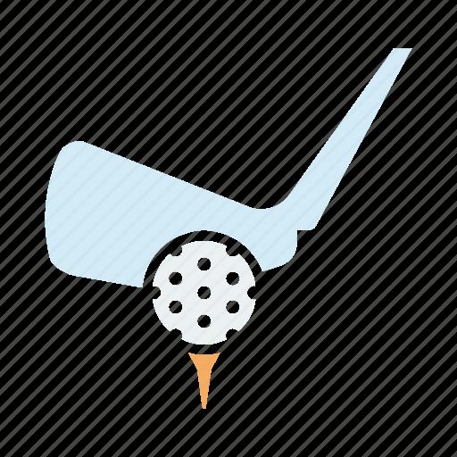 ball, games, golf, hit, olympics, sports, tee icon