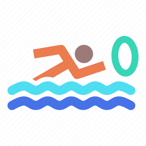 aquatics, games, marathon, olympics, sports, swimming, water icon