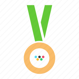 bronze, games, gold, medal, olympics, silver, sports icon