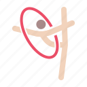 dance, games, gymnast, gymnastics, olympics, rhythmic, ring icon