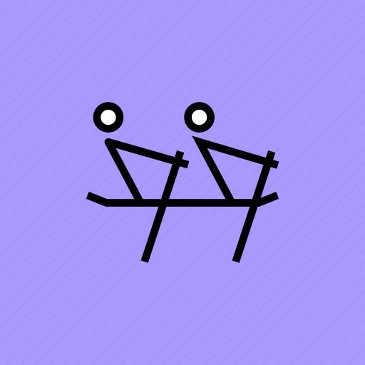 games, oar, olympics, rowing, sports, water icon