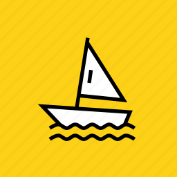 games, olympics, racing, sailing, sports, water, yachting icon