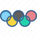 games, logo, olympic, olympics, rings, sports, summer icon
