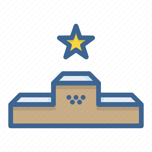 ceremony, games, medal, olympics, podium, sports, winners icon