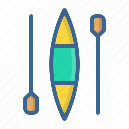 canoe, canoeing, games, olympics, paddle, sprint, water icon
