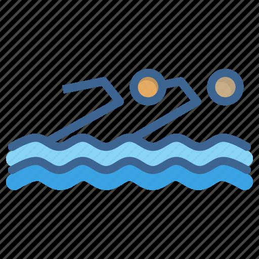 aquatics, games, olympics, sports, swimming, synchronised, water icon