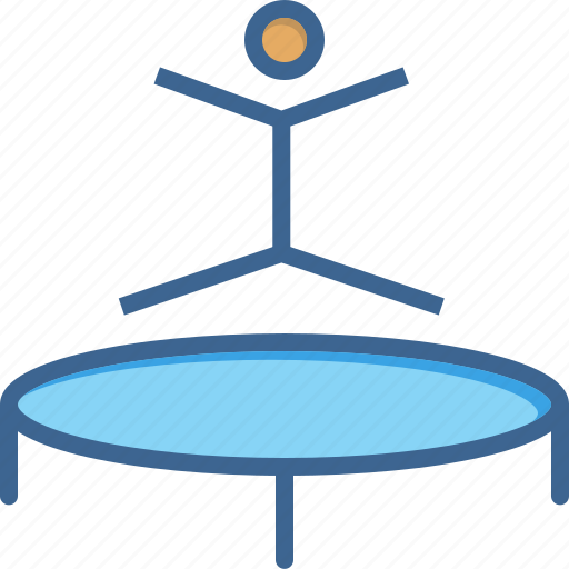 fun, games, gymnast, gymnastics, jump, olympics, trampoline icon