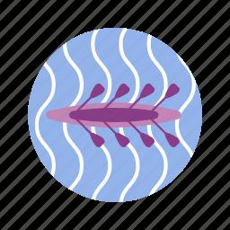 canoe, kayak, olympic, rowing, sport, summer, team sport icon