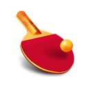 ping pong, table tennis, bat, ball, racket icon