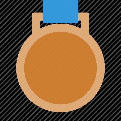 bronze, place, ribbon, third icon