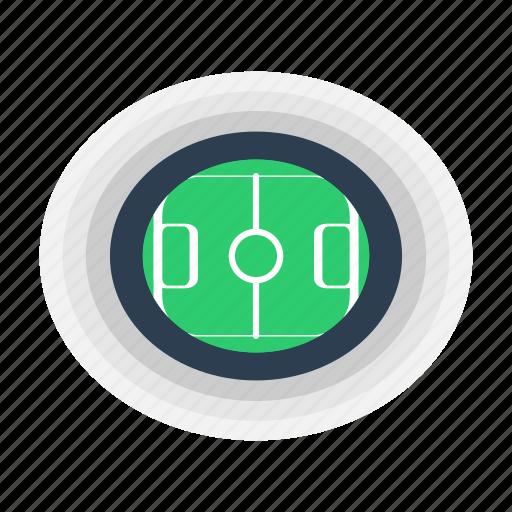 football, pitch, soccer, stadium icon