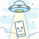 abduction, flying saucer, not found, smartphone, ufo