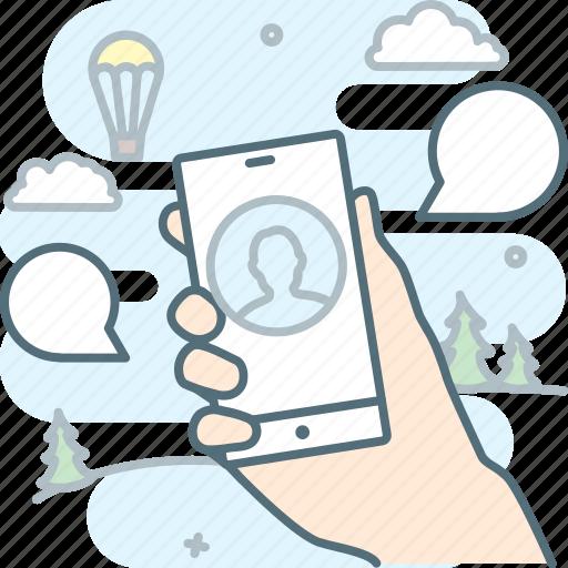 conversation, message, mobile, smartphone, talk icon