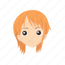 anime, cartoons, fictional character, nami, one piece, pirate icon
