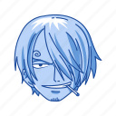 anime, cartoons, fictional character, one piece, pirate, sanji, straw hat pirates icon