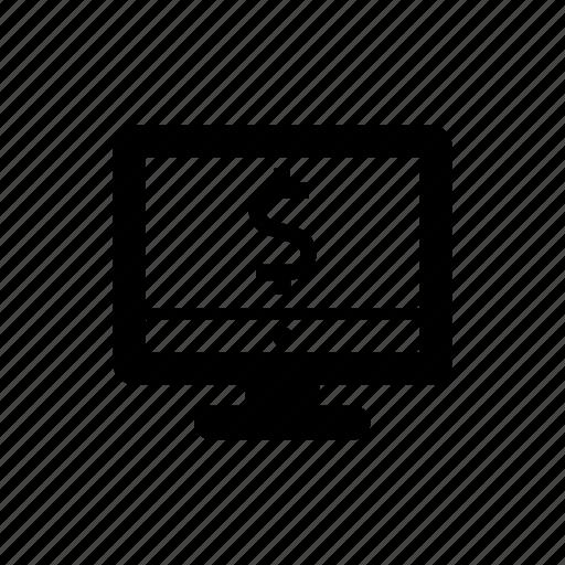 banking, computer, dollar, finance, money, website icon