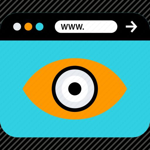 eye, find, iluminati, look, search, web browser icon