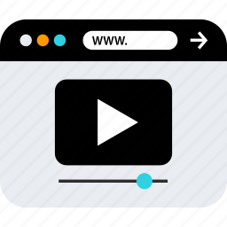 browser, play, video, web, youtube icon