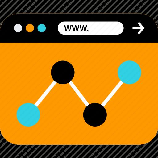 analytics, analyze, browser, seo, web, www icon