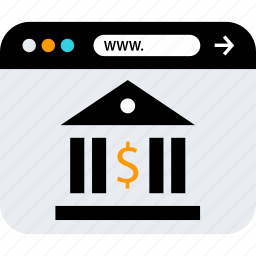 bank, banking, browser, seo, web, www icon