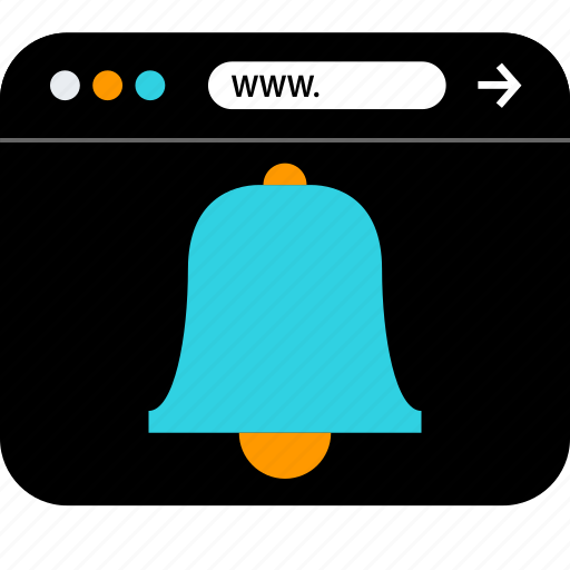 bell, browser, schedule, seo, web, www icon