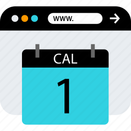 browser, calendar, event, seo, web, www icon