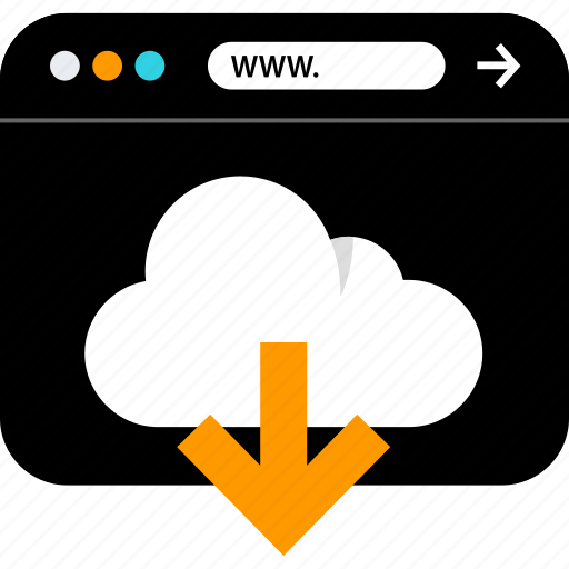 browser, cloud, download, seo, web, www icon