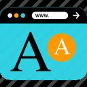 browser, editing, seo, web, word, www icon