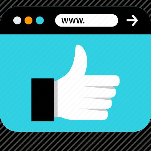 browser, facebook, seo, thumbsup, web, www icon