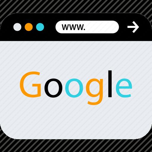 browser, google, search, seo, web, www icon