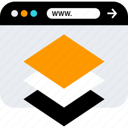 browser, creative, layers, seo, web, www icon