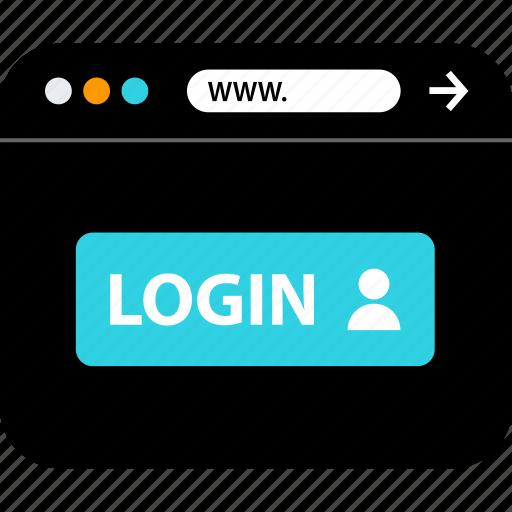 account, browser, login, seo, web, www icon