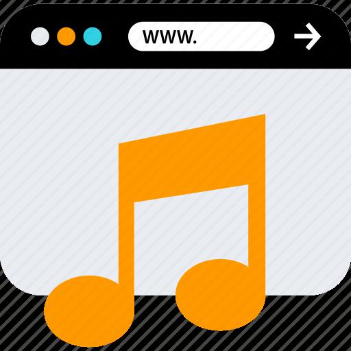browser, listen, music, seo, web, www icon