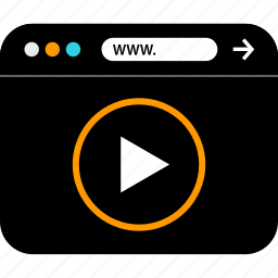 browser, play, seo, video, web, www icon