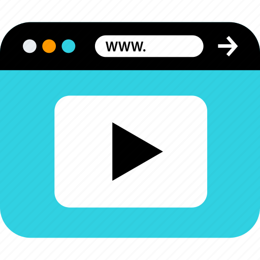 browser, play, seo, video, web, www, youtube icon