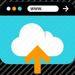 browser, cloud, seo, upload, web, www icon