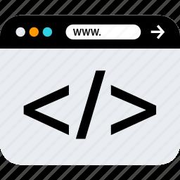 browser, development, seo, web, www icon