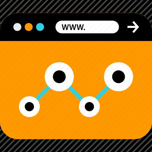 analytics, browser, data, seo, web, www icon