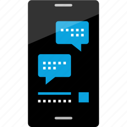 activity, bubble, chat, internet, online, phone, wireframe icon