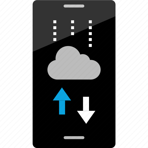 activity, arrows, cloud, internet, online, phone, wireframe icon